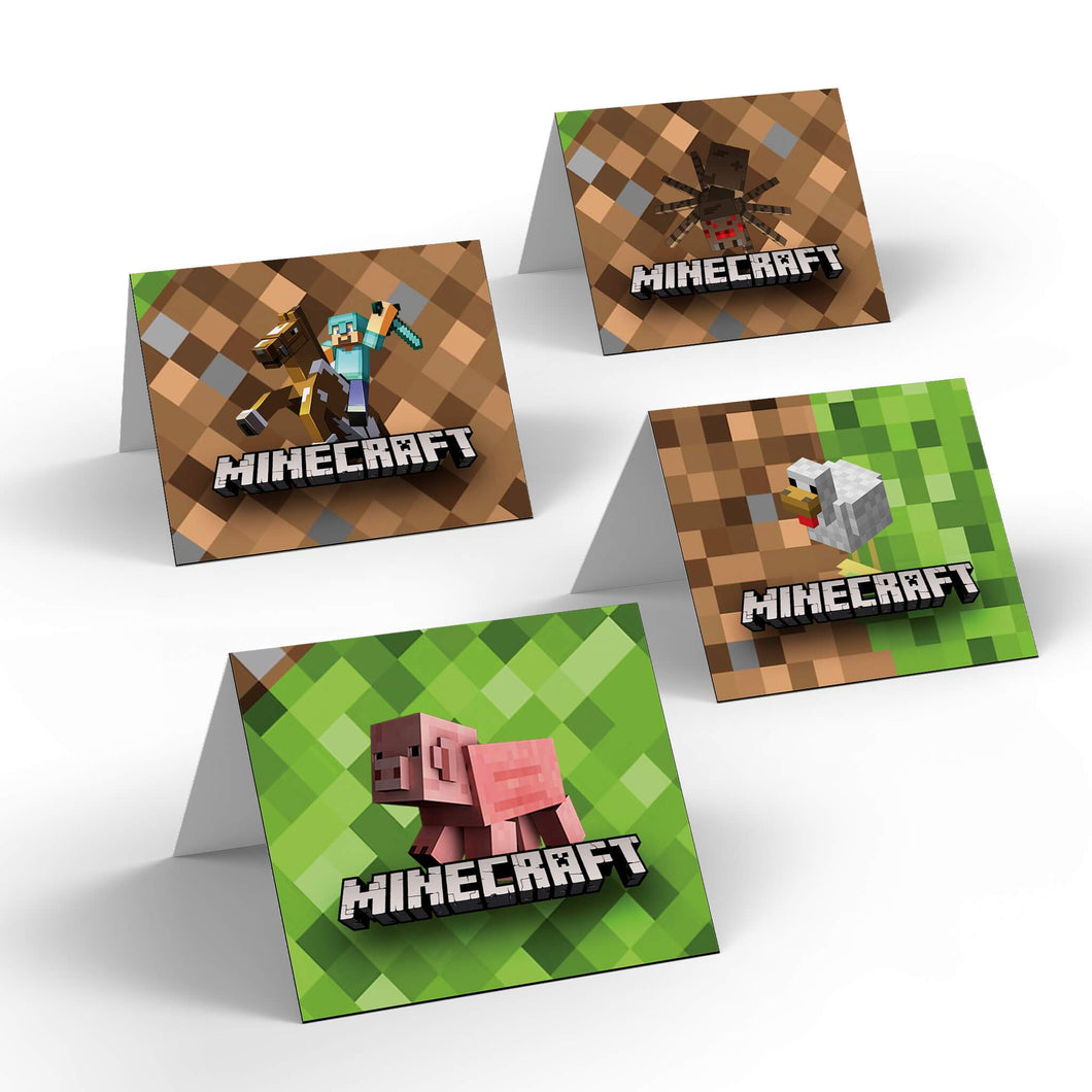 Minecraft Party Food Labels - 1