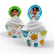 Load image into Gallery viewer, Moana Cupcake Toppers - 1