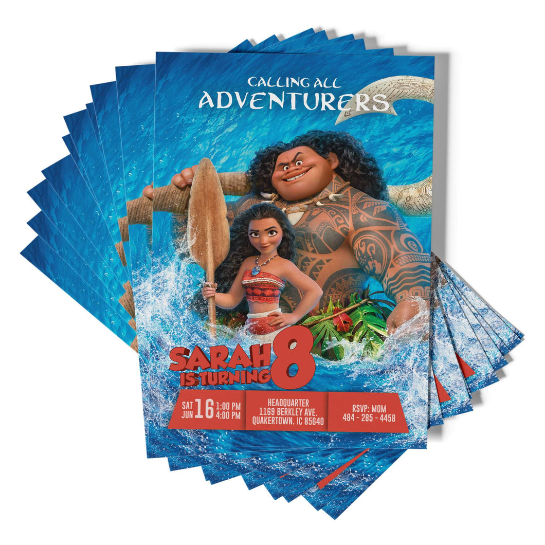 Moana Invitations - 1