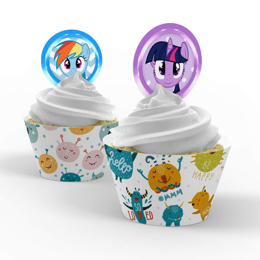 My Little Pony Cupcake Toppers - 1