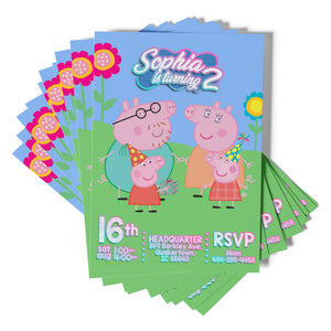 Peppa Pig Invitations - 1