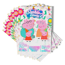 Load image into Gallery viewer, Peppa Pig Invitations - 2