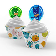 Load image into Gallery viewer, PJ Masks Cupcake Toppers - 1