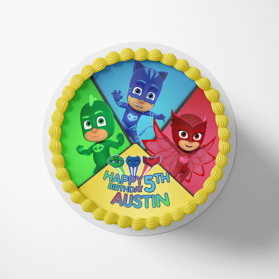 PJ Masks Edible Cake Toppers - 1