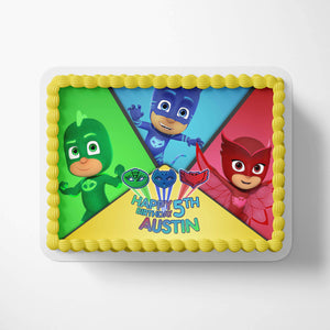 PJ Masks Edible Cake Toppers - 3