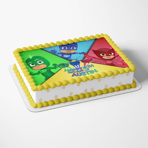 PJ Masks Edible Cake Toppers - 4