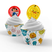 Load image into Gallery viewer, Pokemon Cupcake Toppers - 1