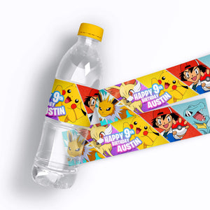 Pokemon Water Bottle Labels - 1