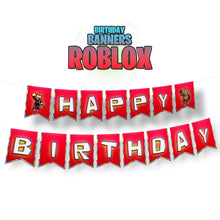 Load image into Gallery viewer, Roblox Birthday Banner - 1