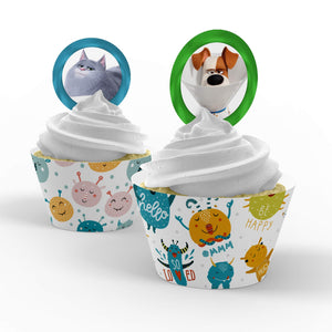 Secret Life of Pets Cupcake Toppers - 1