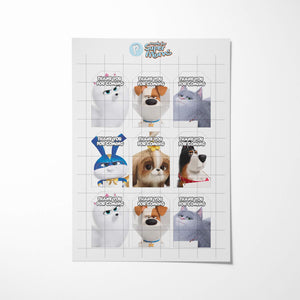 Secret Life of Pets Thank You Tags - 2