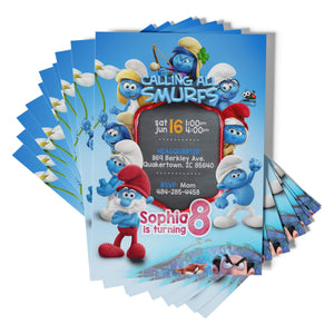 Smurfs Invitations - 1
