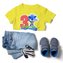 Load image into Gallery viewer, Sonic the Hedgehog Birthday Shirt - 4