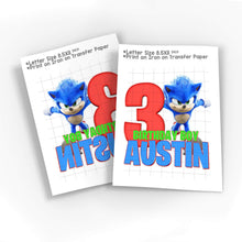 Load image into Gallery viewer, Sonic the Hedgehog Birthday Shirt - 5