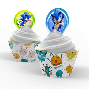 Sonic the Hedgehog Cupcake Toppers - 1