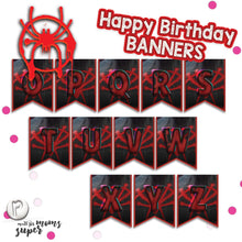 Load image into Gallery viewer, Spiderman Birthday Banners - 4