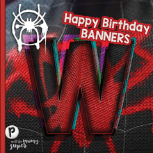 Load image into Gallery viewer, Spiderman Birthday Banners - 2