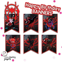 Load image into Gallery viewer, Spiderman Birthday Banners - 6
