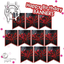Load image into Gallery viewer, Spiderman Birthday Banners - 3