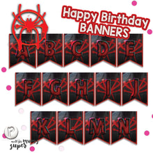 Load image into Gallery viewer, Spiderman Birthday Banners - 5