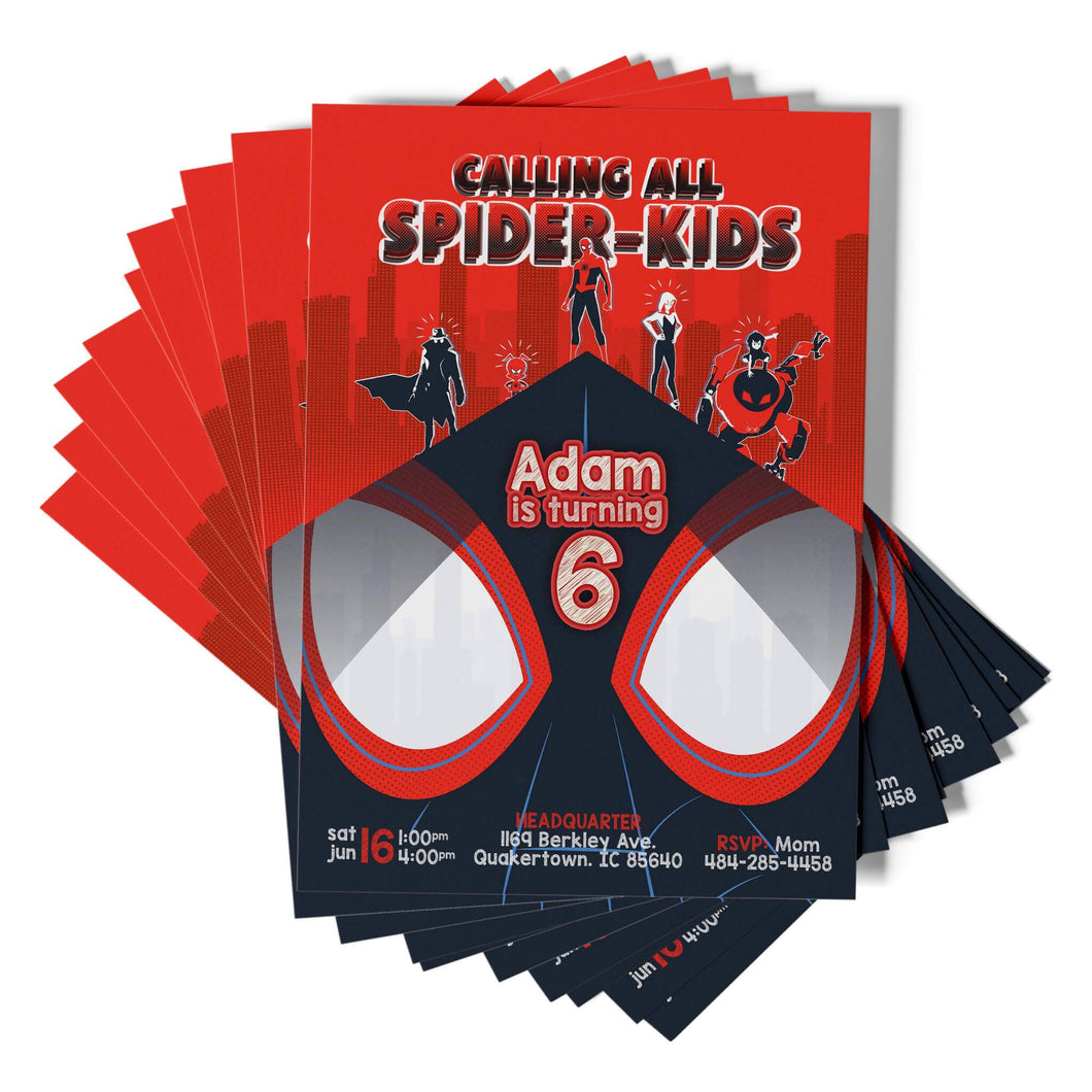 Spiderman Party Invitations - 1