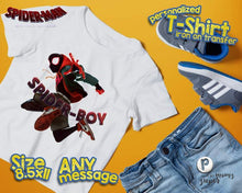 Load image into Gallery viewer, Spiderman Spider Verse Birthday Shirt - 2