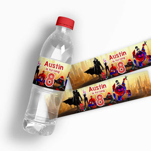 Spiderman Water Bottle Labels - 1