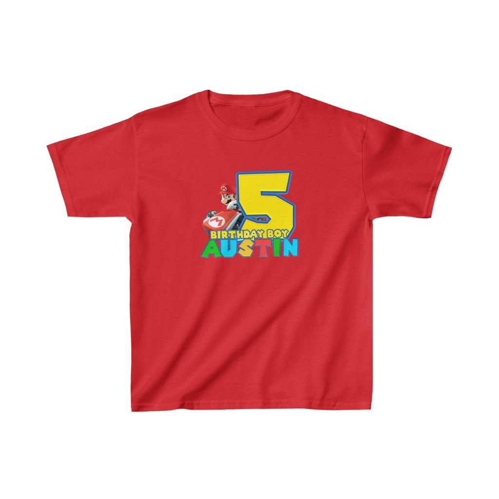Super Mario Birthday Kids T-shirt - 1