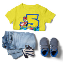 Load image into Gallery viewer, Super Mario Birthday Shirt - 4