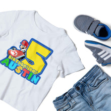 Load image into Gallery viewer, Super Mario Birthday Shirt - 2