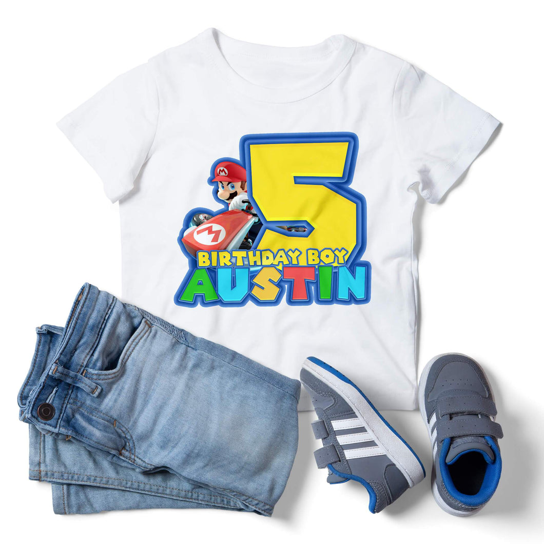 Super Mario Birthday Shirt - 1