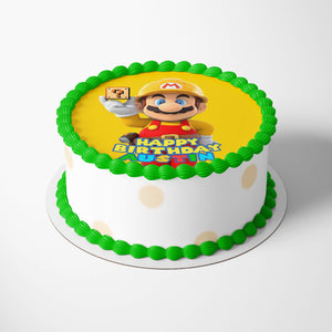 Super Mario Yellow Cake Toppers - 2