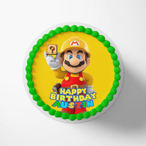Super Mario Yellow Cake Toppers - 1