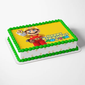Super Mario Yellow Cake Toppers - 4