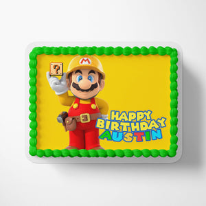 Super Mario Yellow Cake Toppers - 3