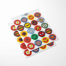 Load image into Gallery viewer, Superhero Cupcake Toppers - 2