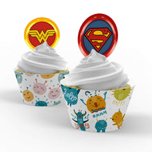 Load image into Gallery viewer, Superhero Cupcake Toppers - 1