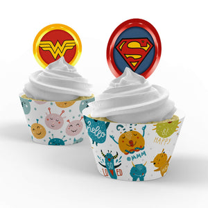 Superhero Cupcake Toppers - 1