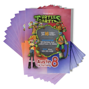 Teenage Mutant Ninja Turtles Invitations - 1