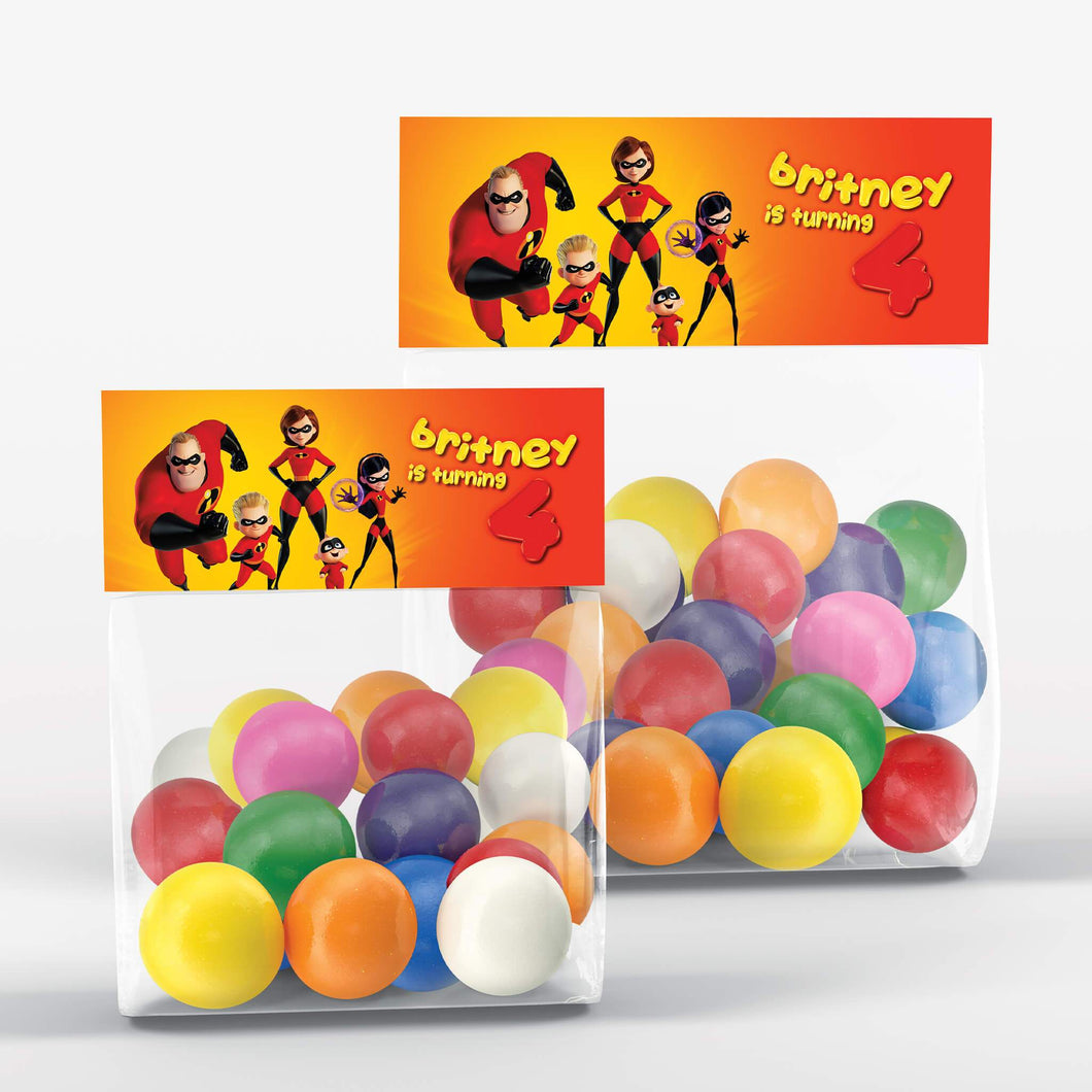 The Incredibles 2 Treat Bag Toppers - 1
