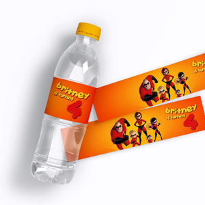 The Incredibles 2 Water Bottle Labels - 1