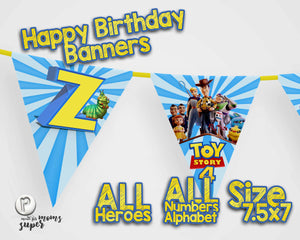 Toy Story 4 Birthday Banners - 3