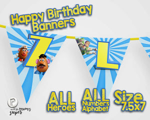 Toy Story 4 Birthday Banners - 4