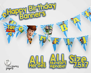 Toy Story 4 Birthday Banners - 2