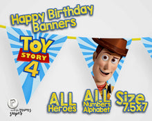 Load image into Gallery viewer, Toy Story 4 Birthday Banners - 1