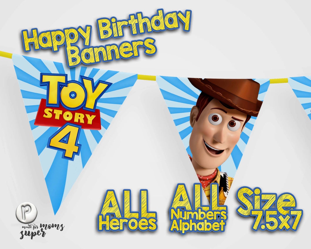 Toy Story 4 Birthday Banners - 1