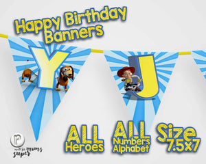 Toy Story 4 Birthday Banners - 5