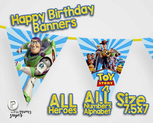 Toy Story 4 Birthday Banners - 6