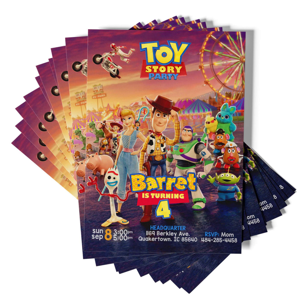 Toy Story 4 Birthday Invite - 1