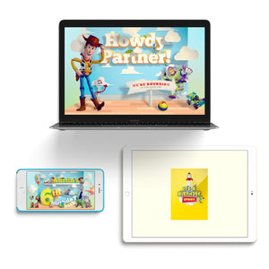 Toy Story Video Invitations - 2